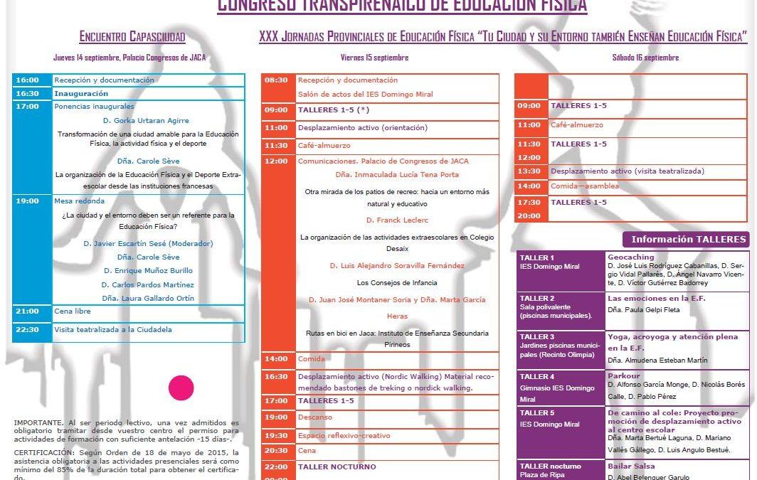 ARRANCA EL I CONGRESO TRANSPIRENAICO DE EDUCACIÓN FÍSICA EN JACA