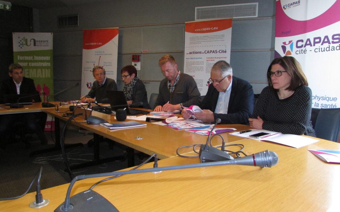 Los Comités de pilotaje y seguimiento de CAPAS-Ciudad se reunieron en Pau