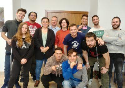 Grupo de alumnos de Imagen y Sonido del IES Ramón y Cajal.