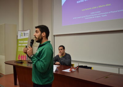 Alberto Aibar et José A. Julián durante su intervención en la jornada Rencontres